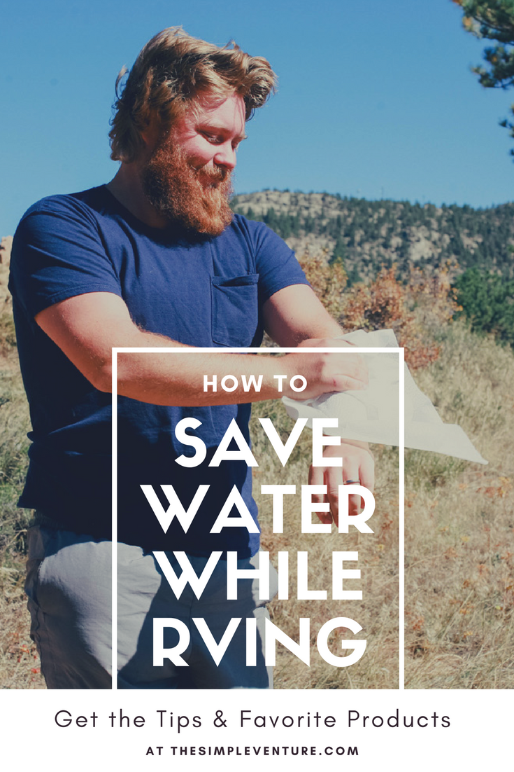 how to save water while RVing