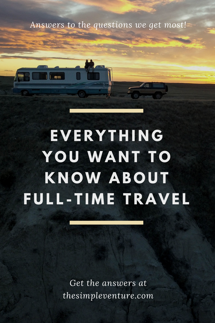 Answers to all your full-time travel questions