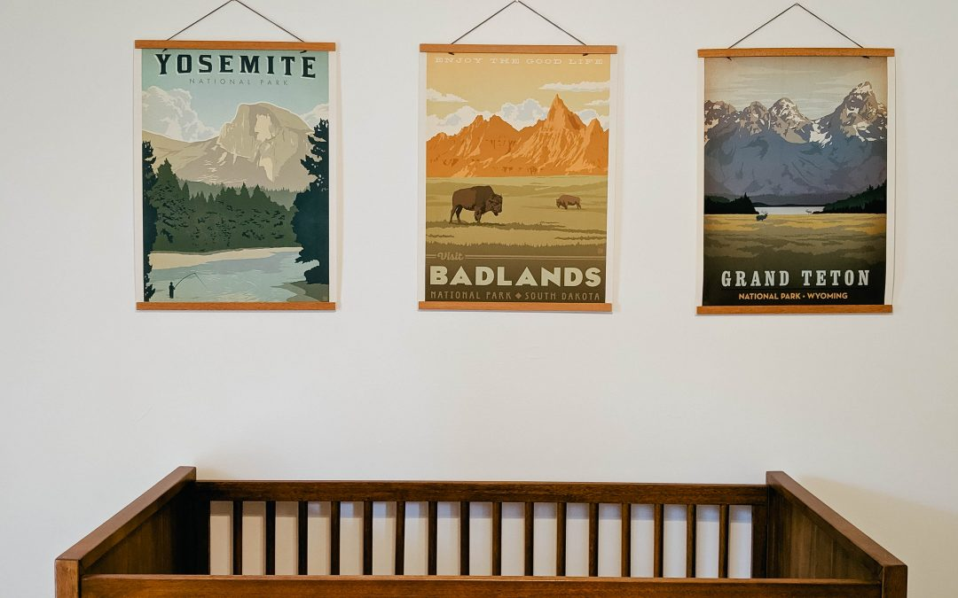 Mid-Century Modern National Park Inspired Nursery